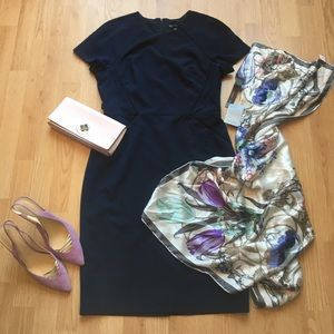 NWT Maggy London Lois Dress in Navy